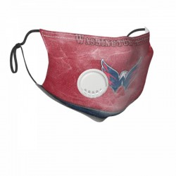 Standard NHL Washington Capitals Child Face masks with breathing valve #301951 breathable and Replaceable filters