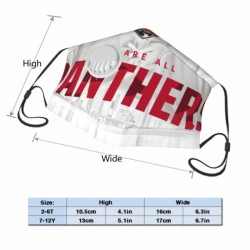 Durable Florida Panthers Child Face masks with breathing valve #308453 with Breathing Valve and Filter Pocket