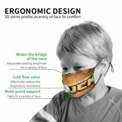 Good Quality NHL Anaheim Ducks Child Face masks with breathing valve #295000 With valve Protect in Children's Dust mask