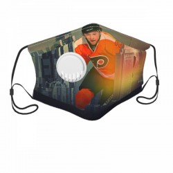 Standard Philadelphia Flyers Child Face masks with breathing valve #303170 breathable and Replaceable filters